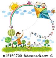 Kite flying Illustrations and Stock Art. 400 kite flying.