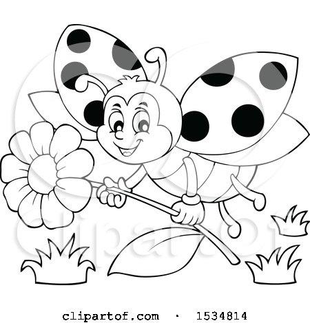 Flying Ladybug Clipart.