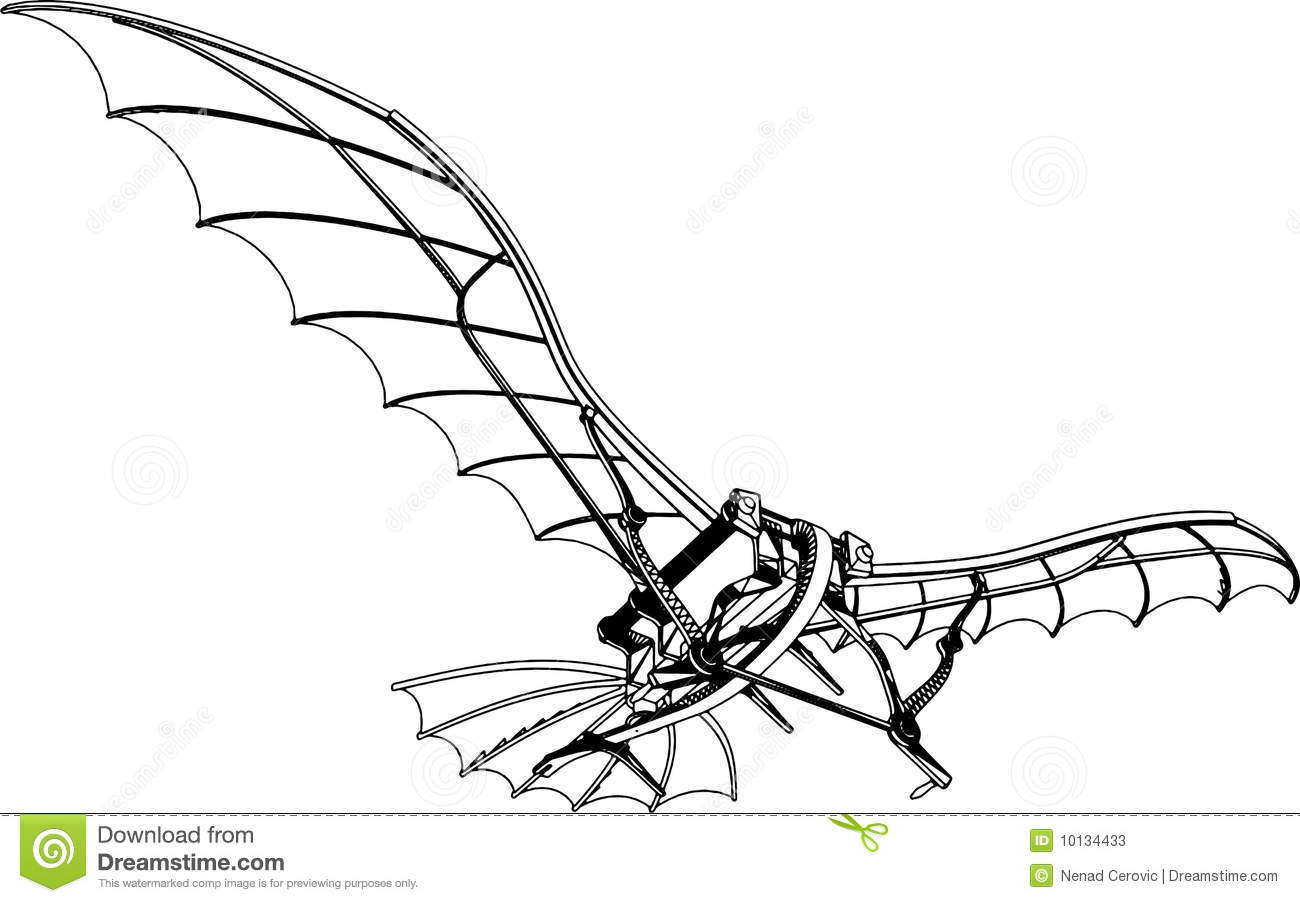 Flying Machine Vector 01 Stock Photos.