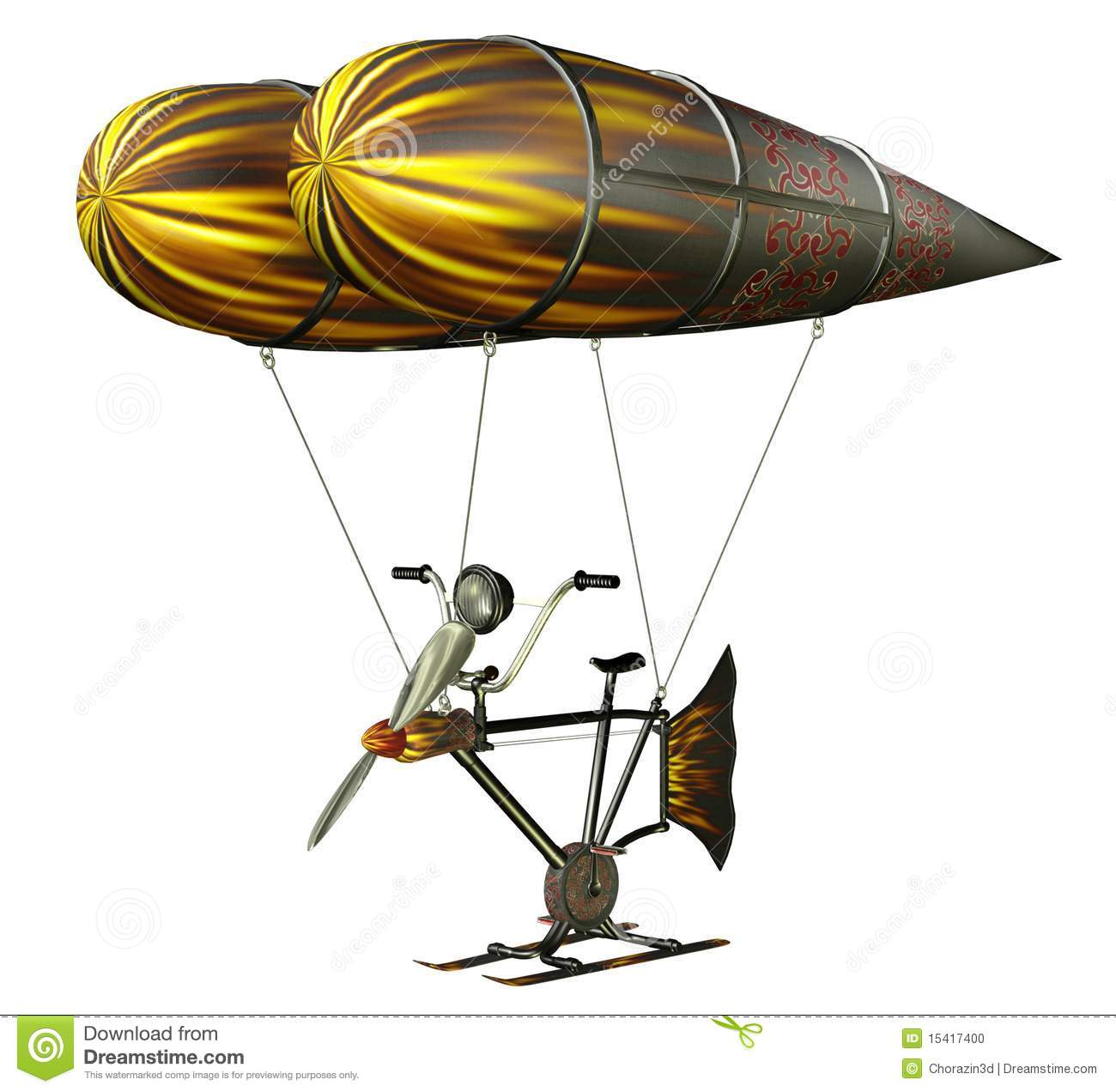 Fantasy Flying Machine Royalty Free Stock Image.