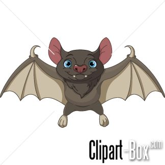 CLIPART CUTE FLYING BAT.