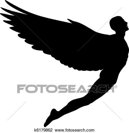 Flying man Clipart.
