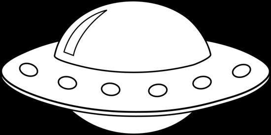 Colorable UFO Line Art.
