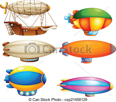 Vector Illustration of Sets of flying objects.
