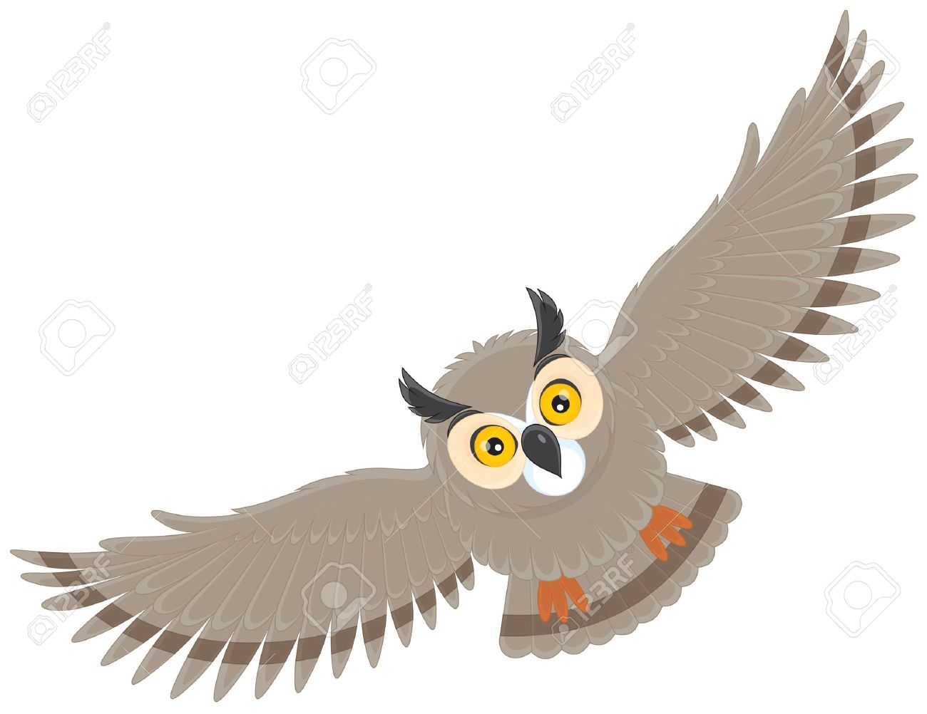 Flying owl clipart 3 » Clipart Station.