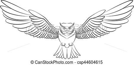 Flying owl clipart black and white 1 » Clipart Portal.