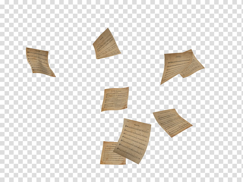 Flying Papers, brown paper lot transparent background PNG.
