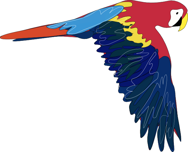 Flying Parrot Clipart.