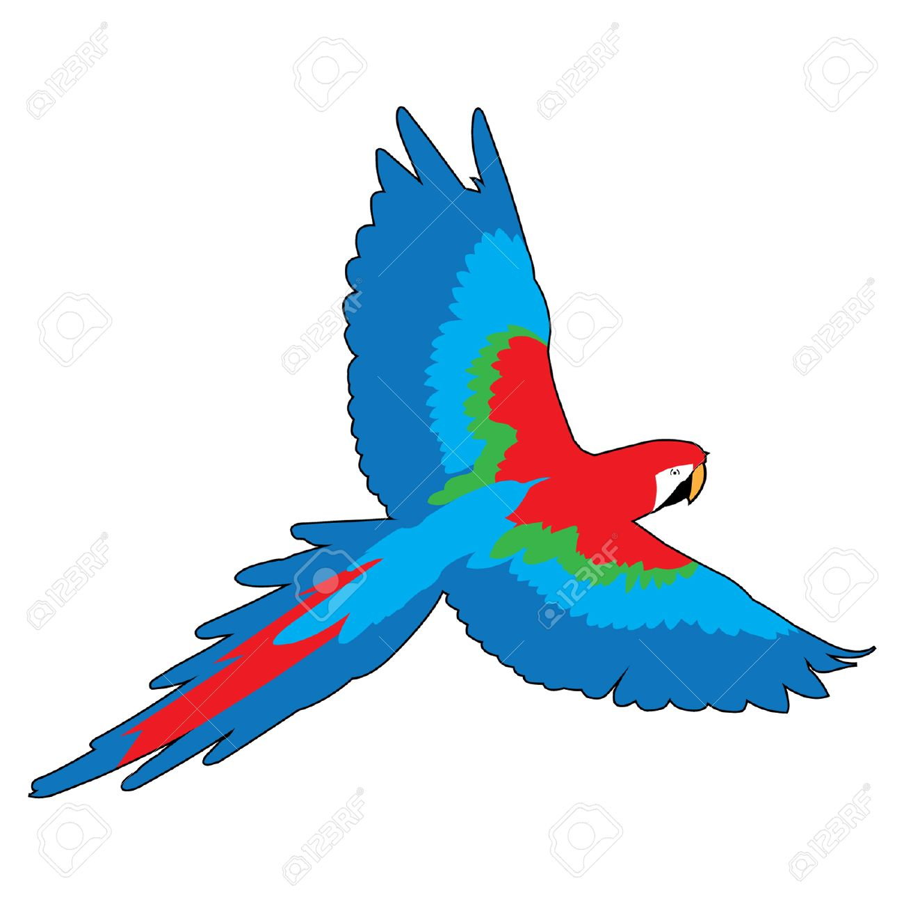 Flying parrot clipart 3 » Clipart Station.