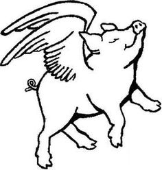 1669 Pigs free clipart.