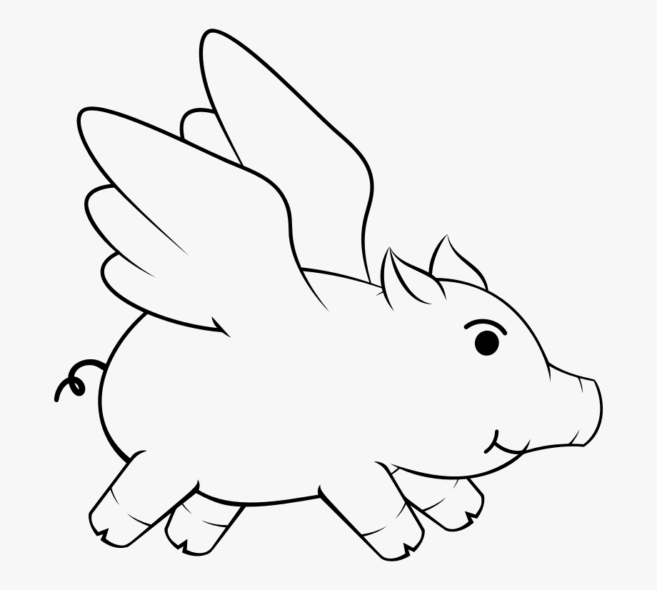 This Png File Is About Flying Pig , Oinker , Porky.