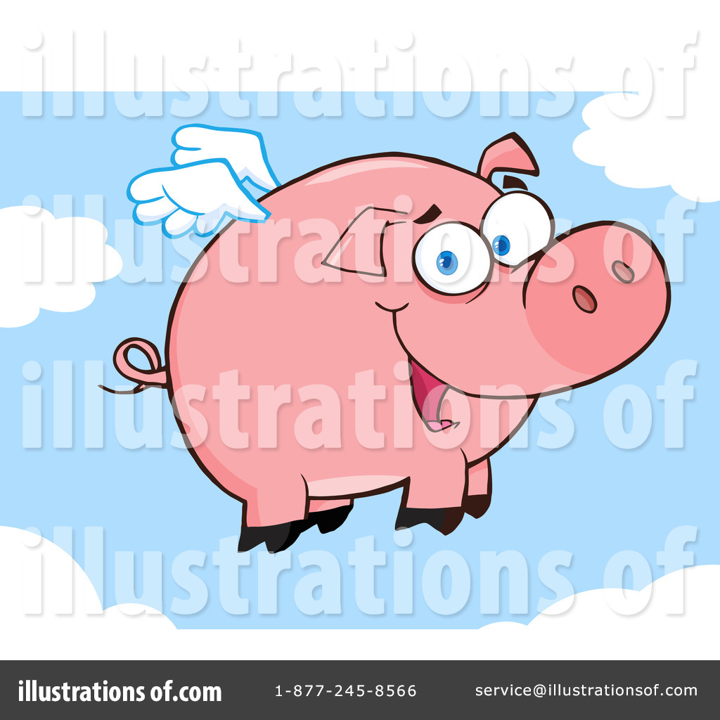 Flying Pig Clipart #1095587.