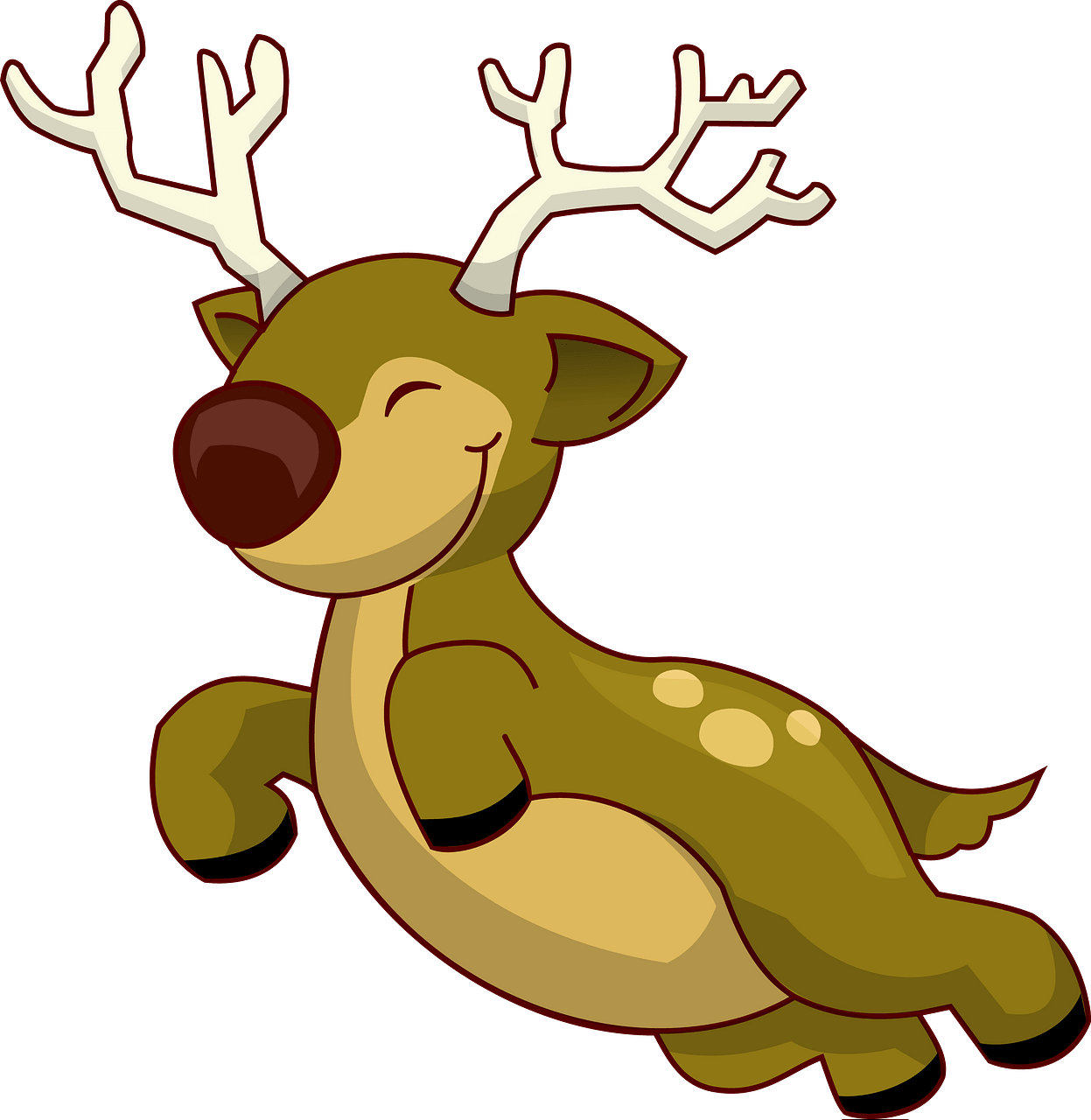 Flying Reindeer clipart. Free download..