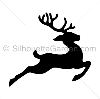 Reindeer Silhouette Clipart Black And White.