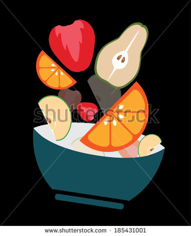 Flying Fruit Salad Stock Photos, Royalty.