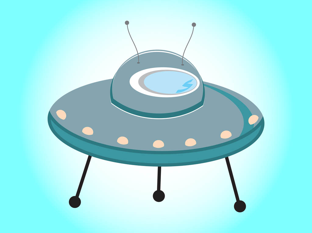 Flying Saucer Clipart.