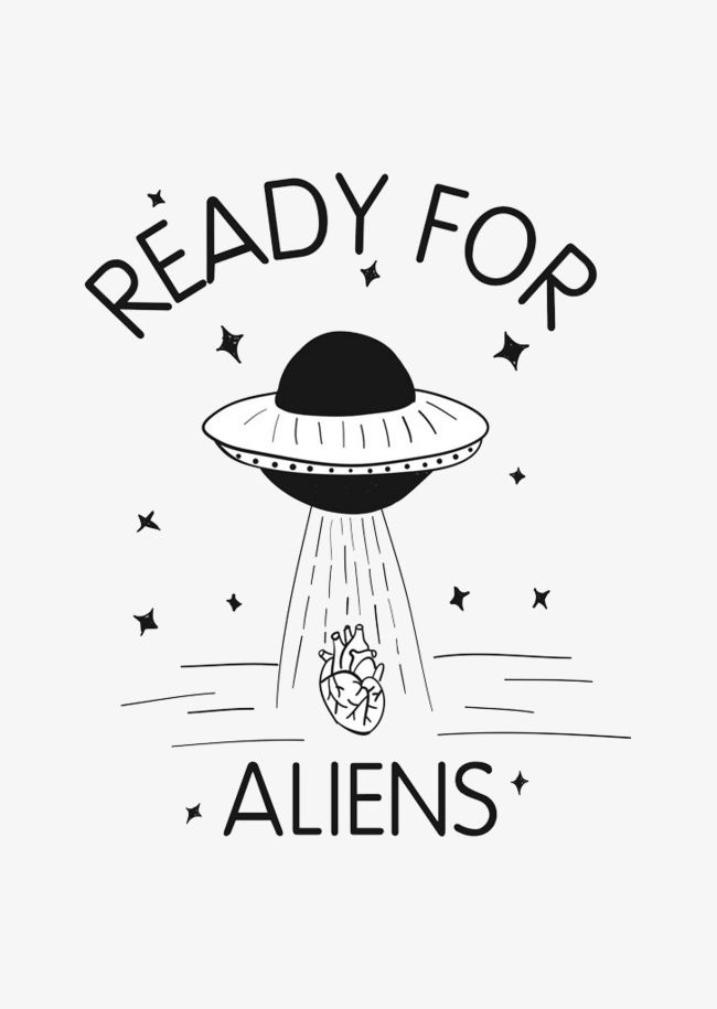 Black And White Flying Saucer PNG, Clipart, Alien, Black.