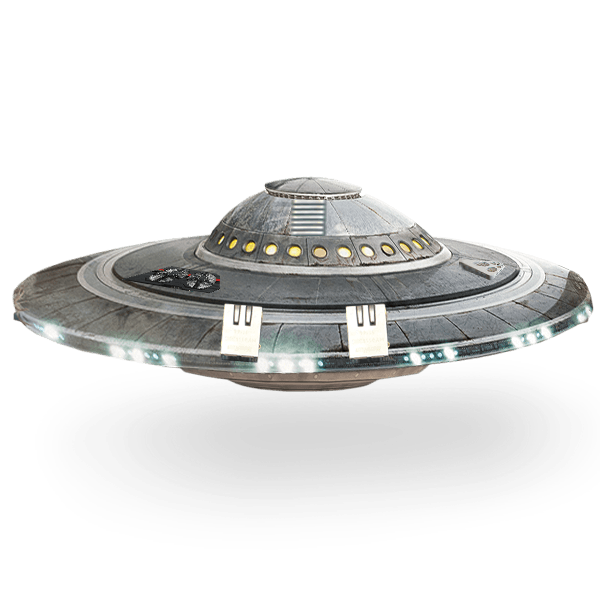 Ufo Spaceship Flying Saucer transparent PNG.