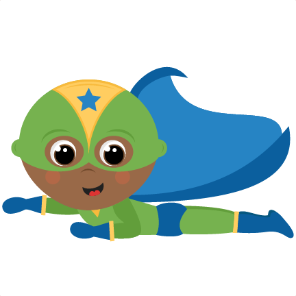 School kid superhero clipart.