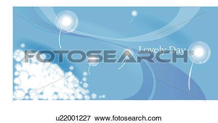Stock Illustration of blowing away, seasons, flying, seed head.
