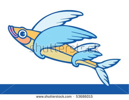 Flying Fish Stock Photos, Royalty.