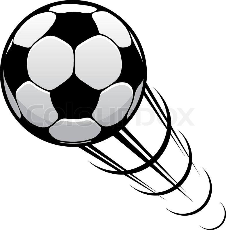 Soccer Ball In Motion Clipart.