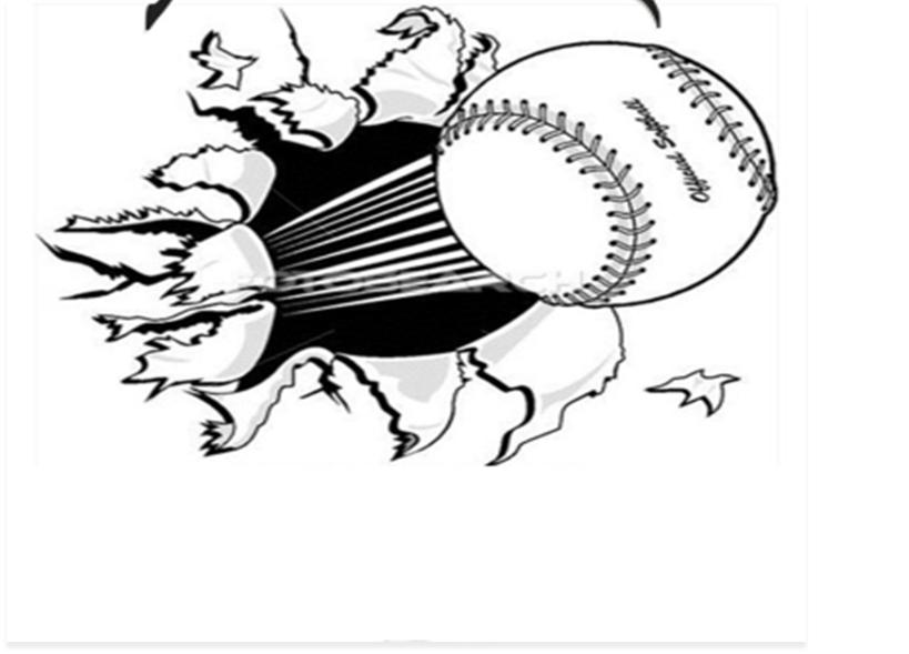 Flying Softball Clipart.