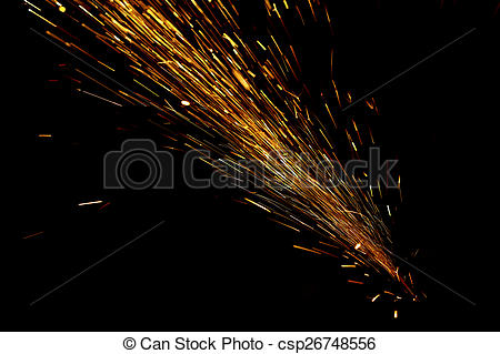 Stock Images of Flying sparks.