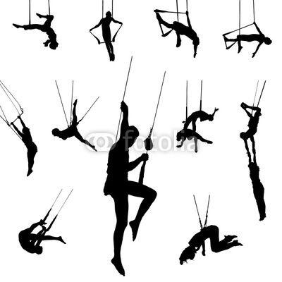 circus trapeze silhouette.