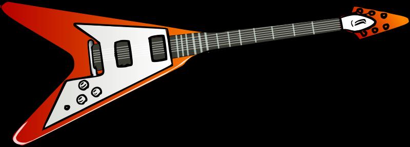 Free Clipart: Flying V guitar.