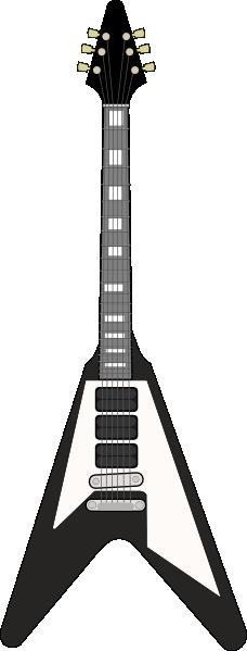 Flying V Guitar clip art Free Vector / 4Vector.
