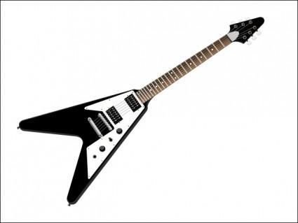 Flying V Guitar Clip Art.