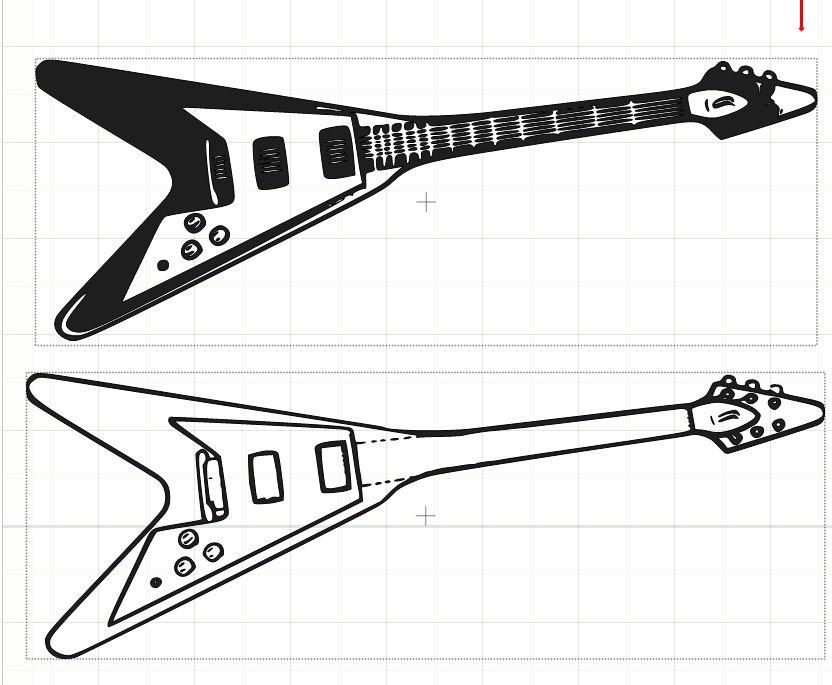 Please help me find a flying V guitar cut file.