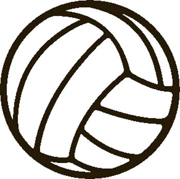 Flying Volleyball Clipart.