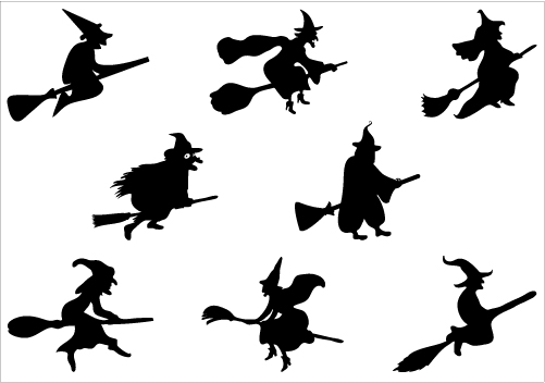 Free Flying Witch Silhouette, Download Free Clip Art, Free.