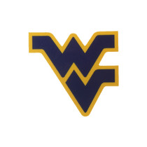 Flying WV Logo Navy Dizzler Decal.