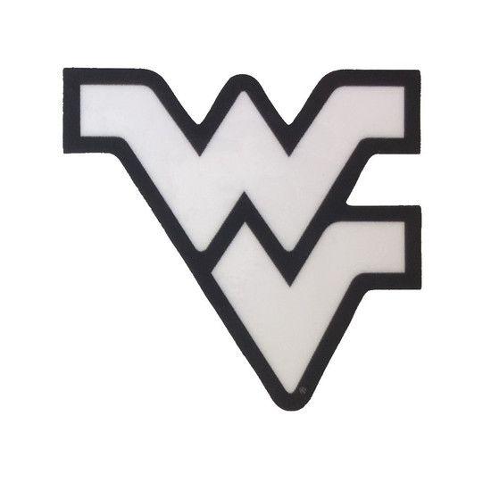 Flying WV Logo White Dizzler Decal in 2019.