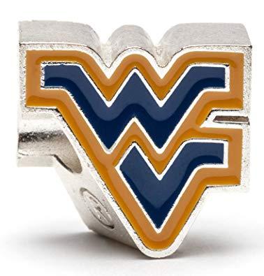 West Virginia University Bead Charm.