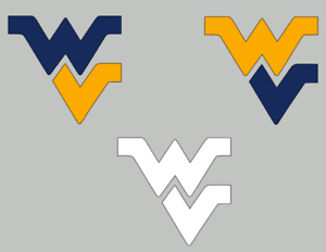 Details about West Virginia Mountaineers Decal, Flying WV Sticker. 3 Colors  To Choose From.