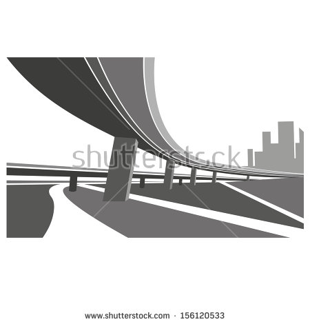Highway Overpass Stock Vectors, Images & Vector Art.
