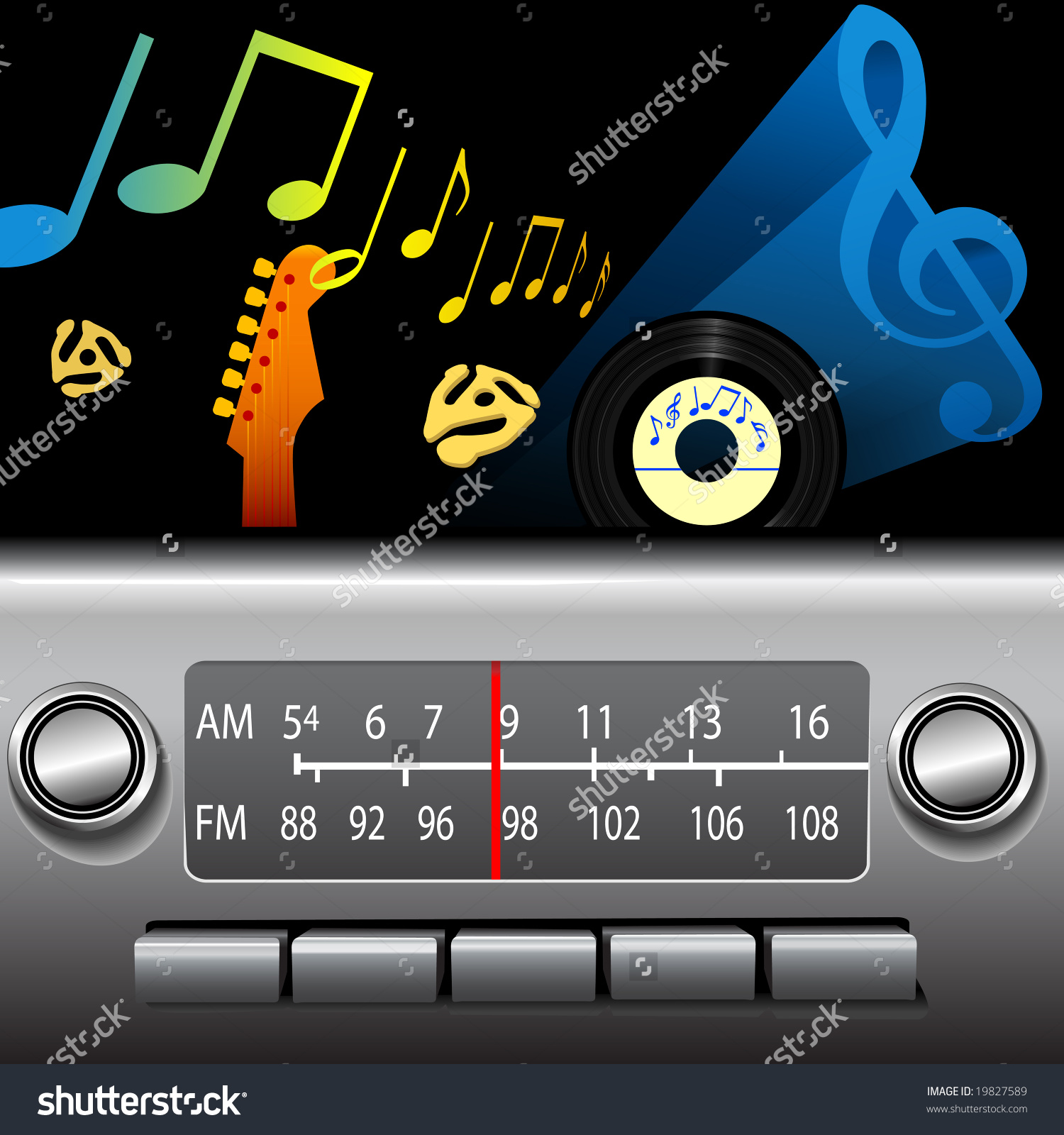 Dj Drive Time On Retro Fm Stock Vector 19827589.