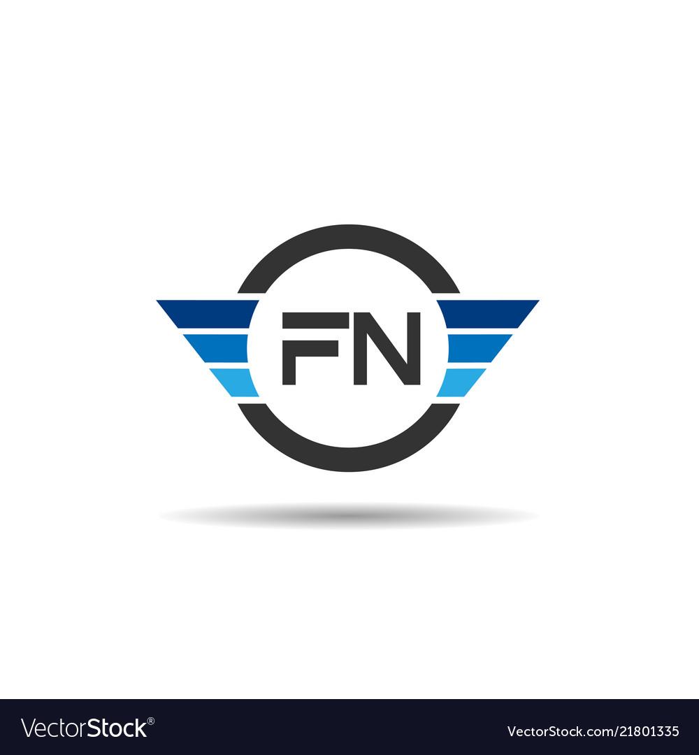 Initial letter fn logo template design.