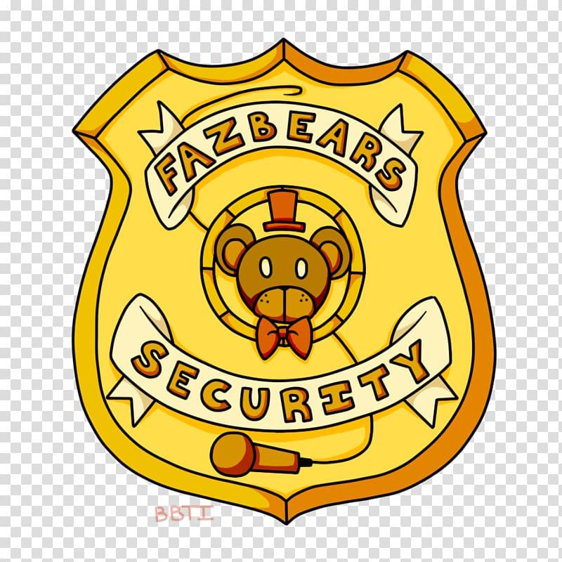 FNaF World Five Nights at Freddy\\\'s 4 Security guard Badge.