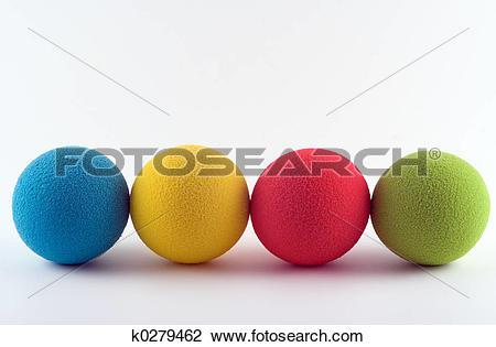 Stock Photo of Foam balls k0279462.