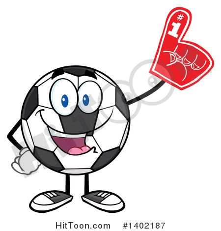 Soccer Ball Character Clipart #1402187: Cartoon Soccer Ball Mascot.