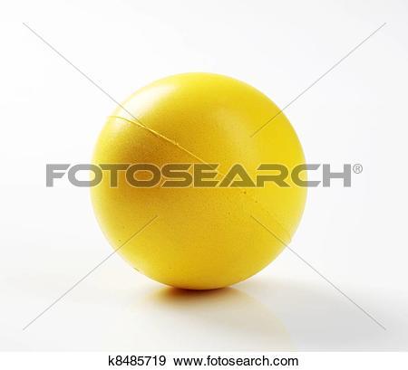 Stock Photograph of Yellow foam ball k8485719.