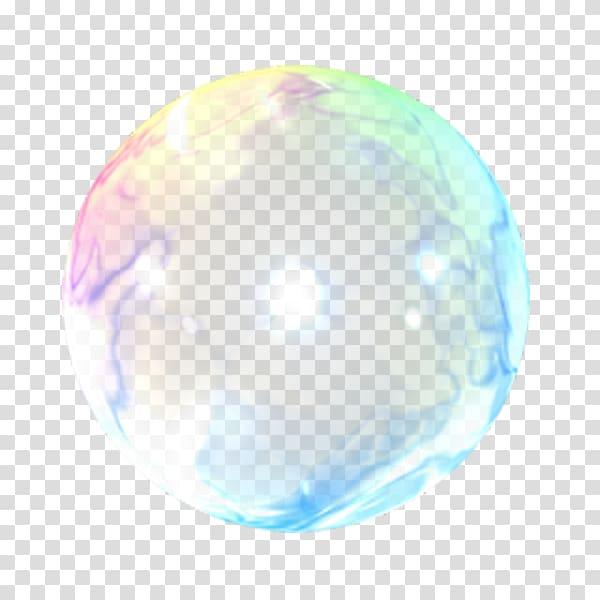 Multicolored sphere illustration, Color Bubble Foam.