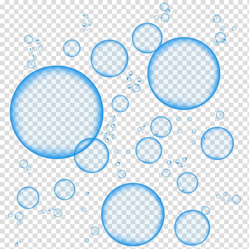 Blue Foam Sticker, Bubbles, bubbles illustration transparent.