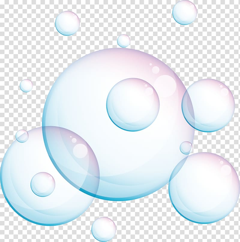 Bubbles illustration, Foam , Foam material transparent.