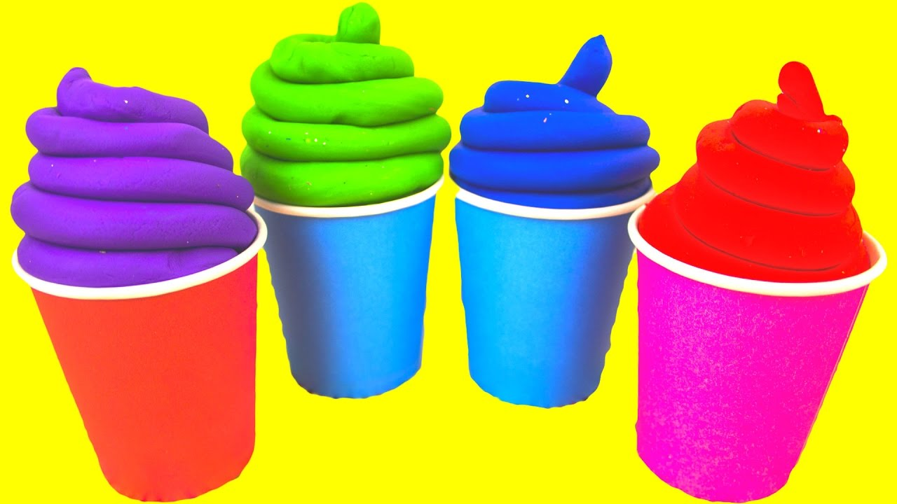 Play Doh Ice Cream Toys for Kids Squishy Balls Play Foam Eggs.